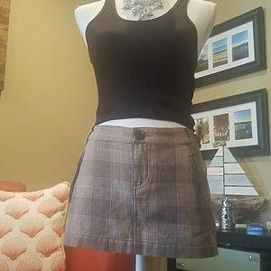 Guess Jeans plate pattern mini skirt